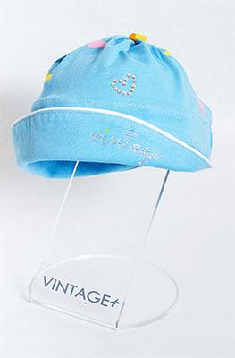 Панамка Vintage На качелах голубой р. 53-55