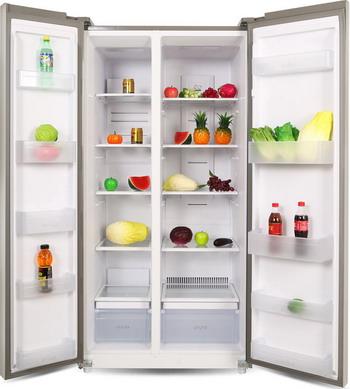 Холодильник Side by Side Ginzzu NFK-580 черное стекло холодильник side by side samsung rs552nrua1j
