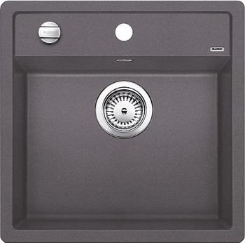 Кухонная мойка BLANCO DALAGO 5-F SILGRANIT темная скала с клапаном-автоматом кухонная мойка blanco dalago 45 f silgranit алюметаллик с клапаном автоматом