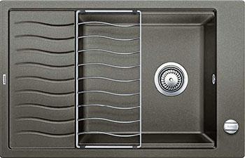 Кухонная мойка BLANCO ELON XL 6 S-F кофе  с клапаном-автоматом мойка кухонная blanco elon xl 6 s шампань с клапаном автоматом 518741