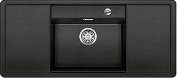 Кухонная мойка BLANCO ALAROS 6S (с черной доской) SILGRANIT антрацит с клапаном-автоматом мойка blanco classik 45s silgranit 521308 антрацит