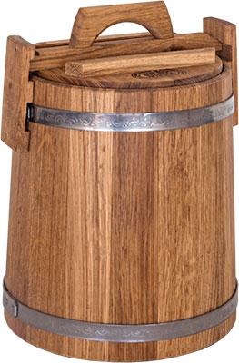 Кадка БонПос дубовая 10 л НЖ с гнетом кадка бонпос дубовая 15л нж с гнетом
