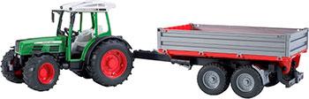 Трактор Bruder Fendt 209 S с прицепом 02-104 bruder трактор fendt favorit vario с погрузчиком bruder