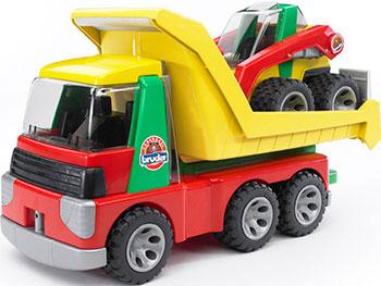 Набор Bruder ROADMAX Грузовик с Погрузчиком 20-070 машинка игрушечная bruder мусоровоз roadmax