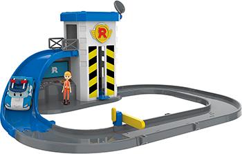 Игровой набор Robocar Poli Подъемник с металлической машинкой Поли и фигуркой Джин
