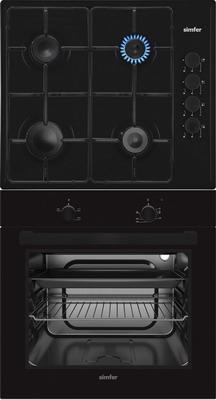 Комплект встраиваемой бытовой техники Simfer S 60 B 02 Black