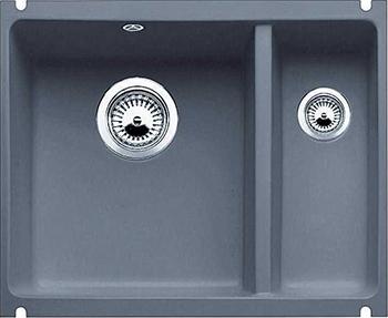 Кухонная мойка BLANCO 523746 SUBLINE 350/150-U керамика базальт PuraPlus с отв.арм. InFino мойка subline 350 150 u cer basalt 516976 blanco