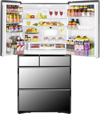 Многокамерный холодильник Hitachi R-X 740 GU X зеркальный внутренний блок shivaki ssh pm186dc