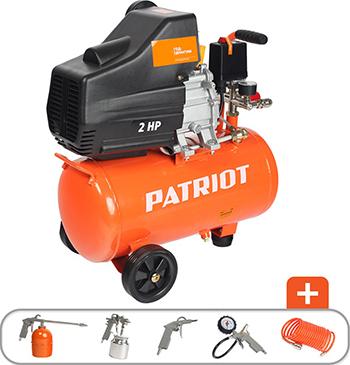 Компрессор Patriot EURO 24-240 K + набор пневиоинструмента KIT 5В 525306366 компрессор patriot euro 24 240k