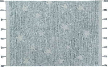 Ковер Lorena Canals Звезды хиппи синие 120*175 C-HI-ST-AQUA