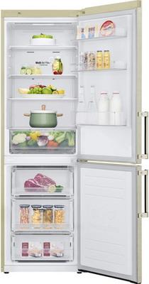 Фото - Двухкамерный холодильник LG GA-B 459 BEGL бежевый двухкамерный холодильник hitachi r vg 472 pu3 gbw