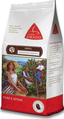 Кофе зерновой Amado Итальянская обжарка 0 5 кг кофе зерновой amado венская обжарка смесь 0 5 кг