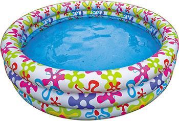 Надувной бассейн для купания Intex Бассейн детский Мозаика  168х38 см intex детский бассейн ракушка xtlmqpf
