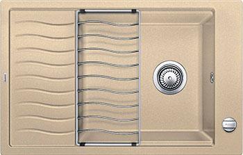 Кухонная мойка BLANCO ELON XL 6S SILGRANIT шампань с клапаном-автоматом мойка кухонная blanco elon xl 6 s шампань с клапаном автоматом 518741