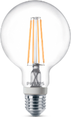 Лампа Philips LEDClassic 7-70 W G 93 E 27 WW CL D