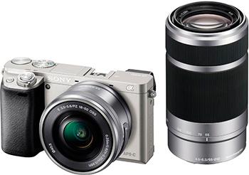 Цифровой фотоаппарат Sony Alpha ILCE-6000 Kit 16-50 PZ+ 55-210 титановый