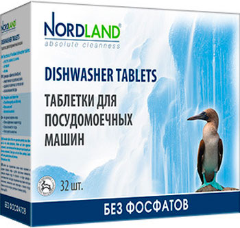Таблетки для посудомоечных машин NORDLAND 392234 соль для посудомоечных машин snowter 1 5 кг