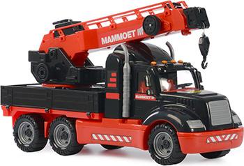Автомобиль-кран с поворотной платформой Полесье 205-03 MAMMOET  (в лотке) mammoet полесье автомобиль самосвал автомобиль эвакуатор конструктор 10 элементов в контейнере 57143