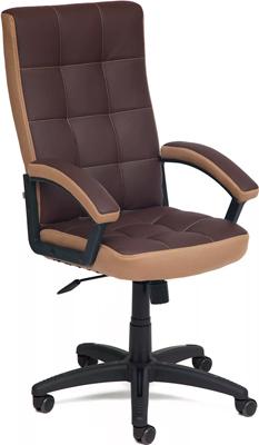 Кресло Tetchair TRENDY (кож/зам коричневый/бронзозый 36-36/21) кресло tetchair runner кож зам ткань черный жёлтый 36 6 tw27 tw 12
