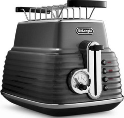 Тостер DeLonghi CTZ 2103 GY Scultura серый тостер delonghi ctov 2103 az