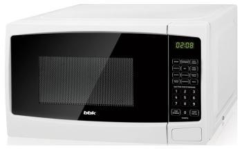 Микроволновая печь - СВЧ BBK 20 MWG-741 S/W белый микроволновая печь свч bbk 23 mwg 930 s bw чёрный белый