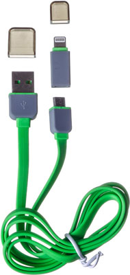 Кабель Harper CCH-517 green harper cch 517 yellow кабель usb microusb lightning