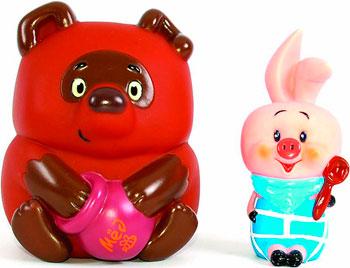 Набор игрушек для купания ЗАТЕЙНИКИ GT 3381 Винни Пух и Пятачок в пакете