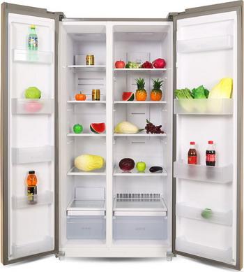 Холодильник Side by Side Ginzzu NFK-580 стекло шампань