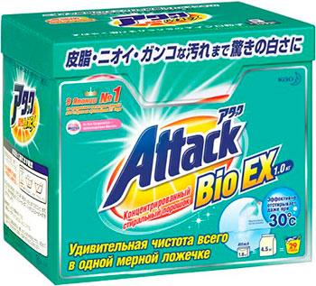 Концентрированный универсальный стиральный порошок Attack BioEX 1 кг