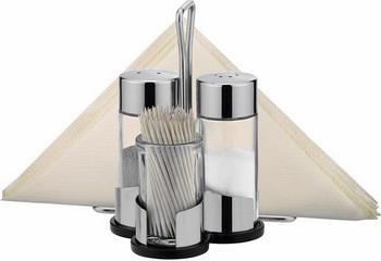 Набор емкостей для соли, перца, зубочисток и салфеток Tescoma