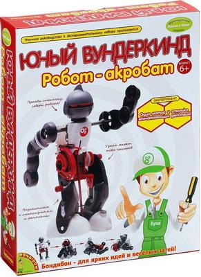Французские опыты Науки с Буки Bondibon Робот-акробат ВВ0989 bondibon развивающая игра французские опыты науки с буки юный вундеркинд робот акробат с 6 лет