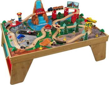 Железная дорога KidKraft 18001_KE деревянная железная дорога kidkraft наш город 80 элементов со столом