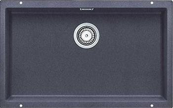 Кухонная мойка BLANCO 523443 SUBLINE 700-U SILGRANIT темная скала с отв.арм. InFino кухонная мойка blanco subline 700 u silgranit алюметаллик
