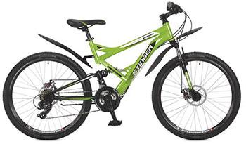 Велосипед Stinger 26 SFD.VERSUD.18 GN7 26'' Versus D 18'' зеленый велосипед stinger bmx graffiti цвет зеленый 20