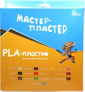 Набор цветного PLA пластика Мастер-Пластер 13 цветов