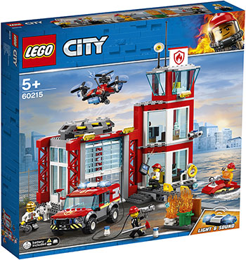 Конструктор Lego Пожарное депо 60215 City Fire lego backpack master of fire chima child s full size black and red