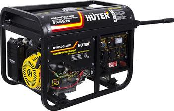 Электрический генератор и электростанция Huter DY 6500 LXW с колёсами и акуумулятором генератор бензиновый сварочный genholm ht 6800 lxw