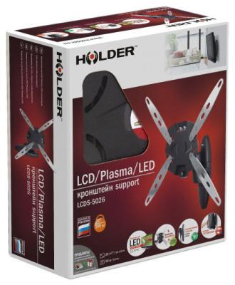 Кронштейн для телевизоров Holder LCDS-5026 металлик (черный глянец) holder lcd t 6605 b металлик черный глянец