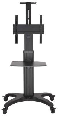 Мобильная стойка для презентаций NB AVF 1500-50-1P black баскетбольная мобильная стойка dfc stand48p 120x80 см поликарбонат