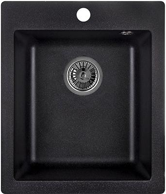 Кухонная мойка Weissgauff QUADRO 420 Eco Granit черный  weissgauff quadro 775k eco granit серый беж