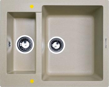 Кухонная мойка Zigmund amp Shtain RECHTECK 600.2 речной песок zigmund amp shtain integra 500 2 индийская ваниль