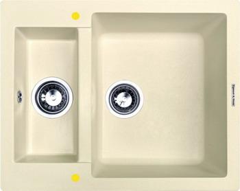 Кухонная мойка Zigmund amp Shtain RECHTECK 600.2 топленое молоко кухонная мойка zigmund amp shtain kaskade 800 осенняя трава