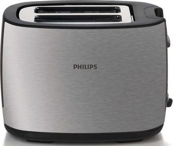 Тостер Philips HD 2658/20 черный/матовый металлик кофемашина автоматическая philips hd 8649 01