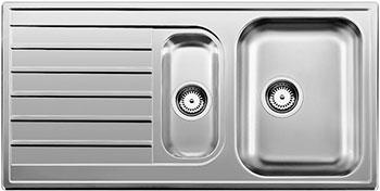 Кухонная мойка BLANCO LIVIT 6 S нерж. сталь полированная кухонная мойка blanco livit 6 s centric нерж сталь полированная с клапаном автоматом