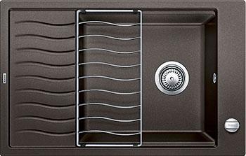 Кухонная мойка BLANCO ELON XL 6S SILGRANIT кофе с клапаном-автоматом мойка кухонная blanco elon xl 6 s шампань с клапаном автоматом 518741