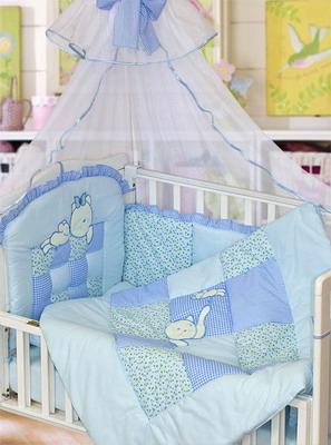 Комплект постельного белья Золотой Гусь Кошки-Мышки 7 предметов 100% хлопок (голубой)