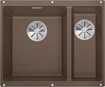 Кухонная мойка BLANCO SUBLINE 340/160-U SILGRANIT мускат (чаша слева) с отв.арм. InFino 523555 кухонная мойка blanco subline 160 u белая