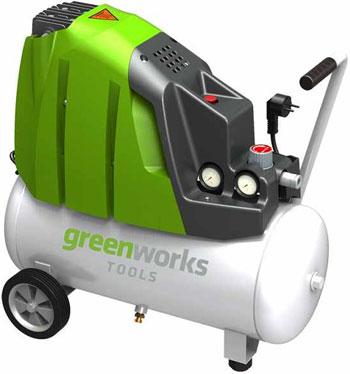 Компрессор Greenworks 24л GAC 24 L 4101807 компрессор масляный kolner kac 24 l