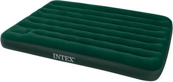Надувной матрас Intex DOWNY 66929 надувной матрас intex 66950 downy bed 76х191х22см со встроенным ножным насосом
