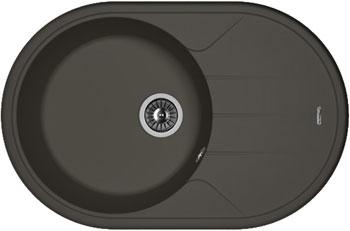 Кухонная мойка Florentina Лотос 780 780х510 антрацит FSm искусственный камень кухонная мойка florentina касси 780 780х510 антрацит fsm
